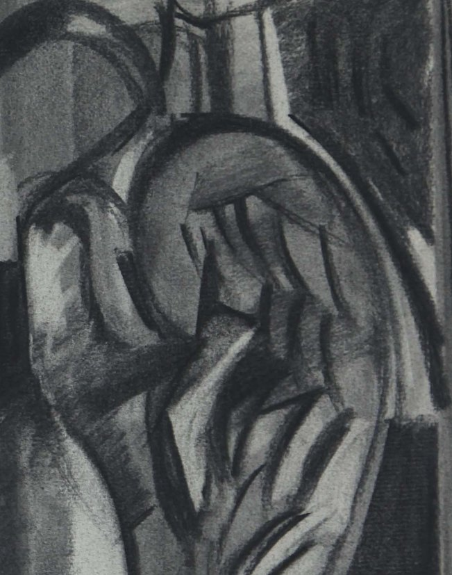 Wing Detail_Study for Birth of Eros triptych (1960,1961), 1960, 19 x 25, charcoal IMG_0176